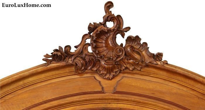 Rococo Regence Shell Carving on Antique Cabinet