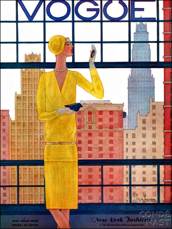 Vogue Art Deco Magazine cover 1928