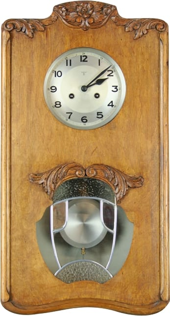 This gorgeous 1920 Art Nouveau Mauthe clock went directly into a clock dealer's personal collection.